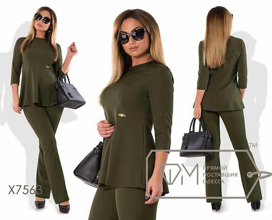"""Удобный женский костюм Блуза+брюки """"Костюмная"""" 52 размер батал, фото 2"""