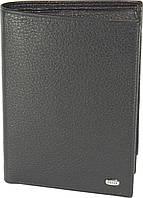 Мужское портмоне Petek 251, Черный, 2, 5+, Вертикальное, Естественная фактура, Нет, Матовая, Стандартное, Кожа, фото 1