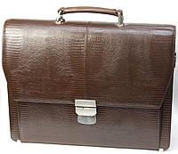 Портфель мужской Petek 799, Коричневый, Рептилия, Матовая, фото 1