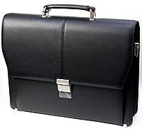 Портфель мужской Petek 799, Черный, Естественная фактура, Матовая, фото 1