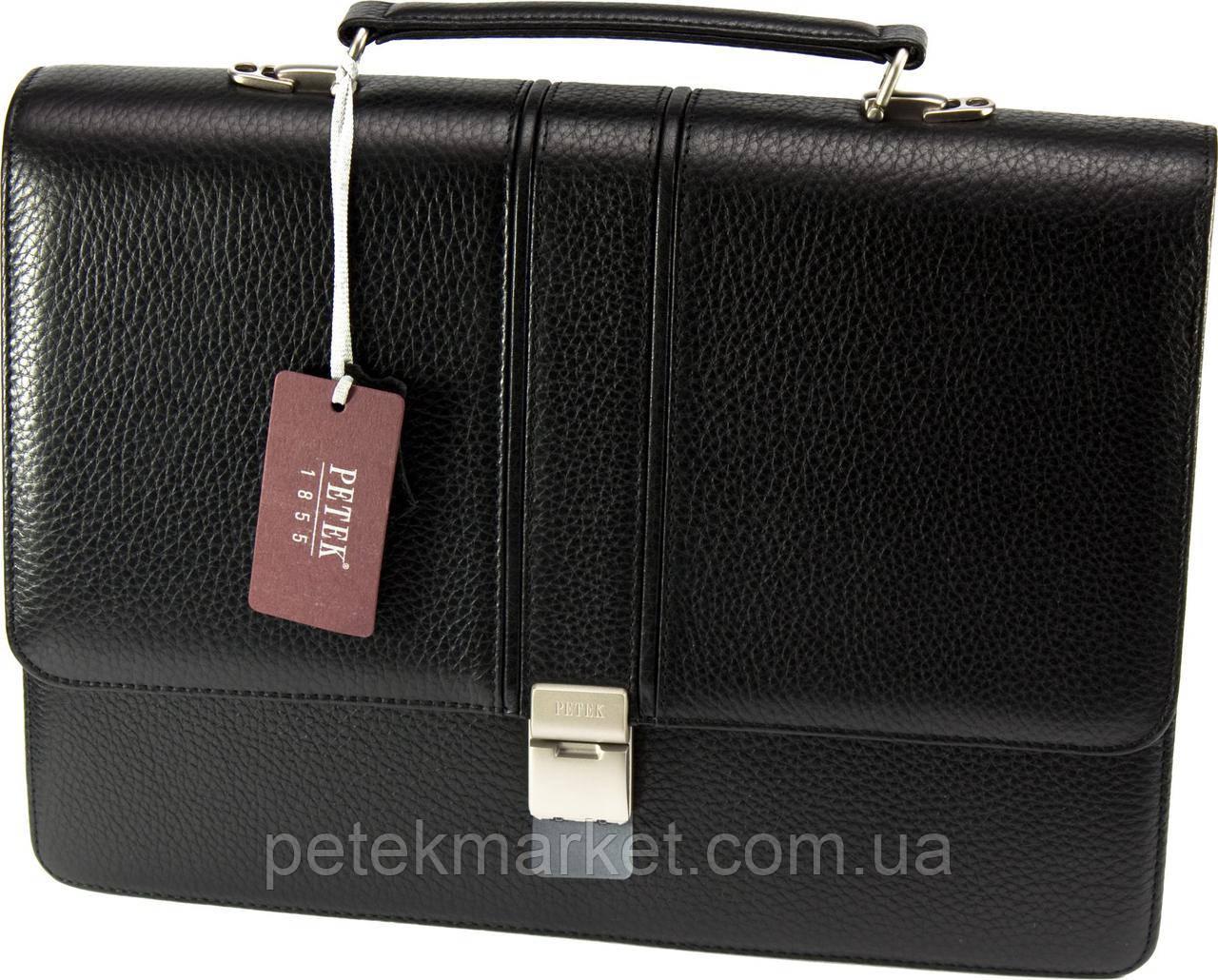 Кожаный портфель Petek 752