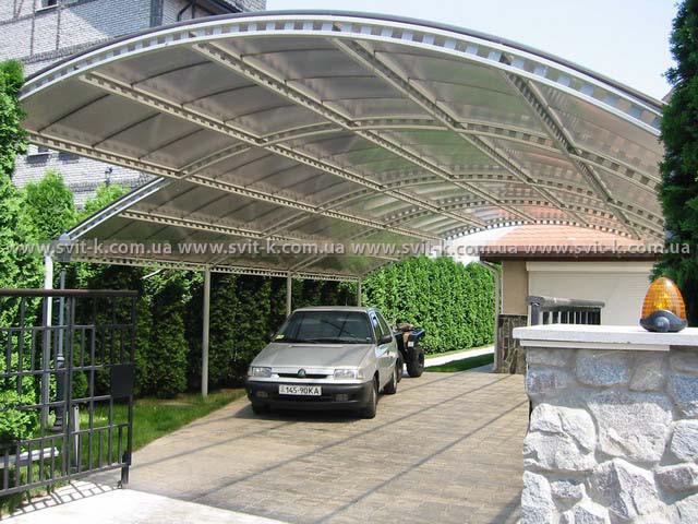 ПМП «Интергейтс» - навес для автомобиля для сотового поликарбоната