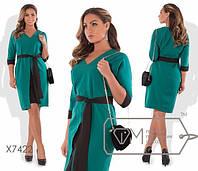 """Красивое женское платье ткань """"Костюмная ткань"""" 48, 50, 52, 54, 56 размер батал"""