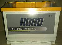 Аккумулятор автомобильный NORD 6СТ-60 Аз
