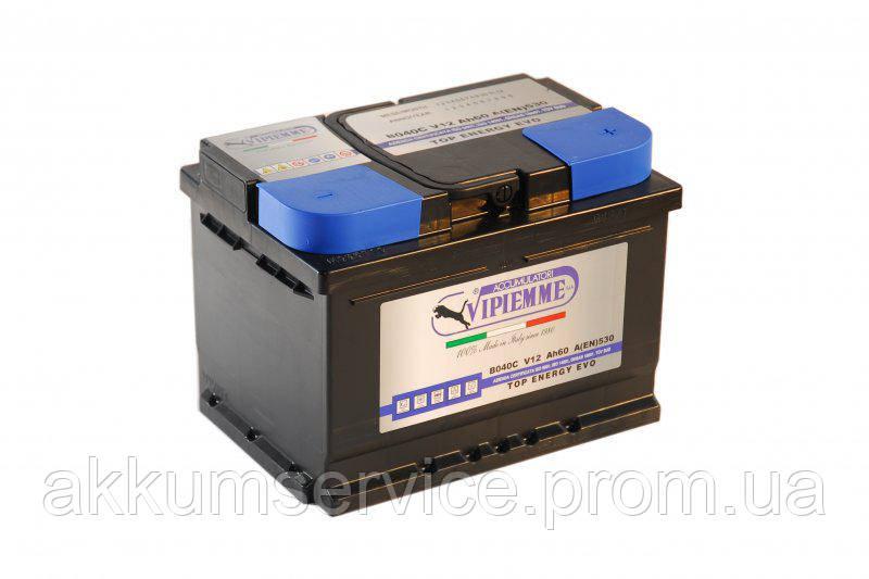 Акумулятор автомобільний Vipiemme Energy Top 60AH R+ 530A
