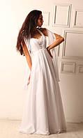 63.1 Воздушное новое свадебное платье молочного цвета, А-силуэт, размер 54