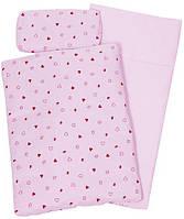 Набор Goki для кукол Постельный комплект (розовый) 51861G