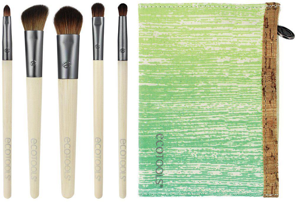 Набор из 5 кистей + косметичка Eco Tools Bamboo Essential Eye Set The Smokey Eye