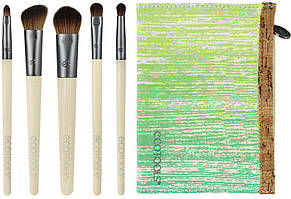 Набор из 5 кистей + косметичка Eco Tools Bamboo Essential Eye Set The Smokey Eye