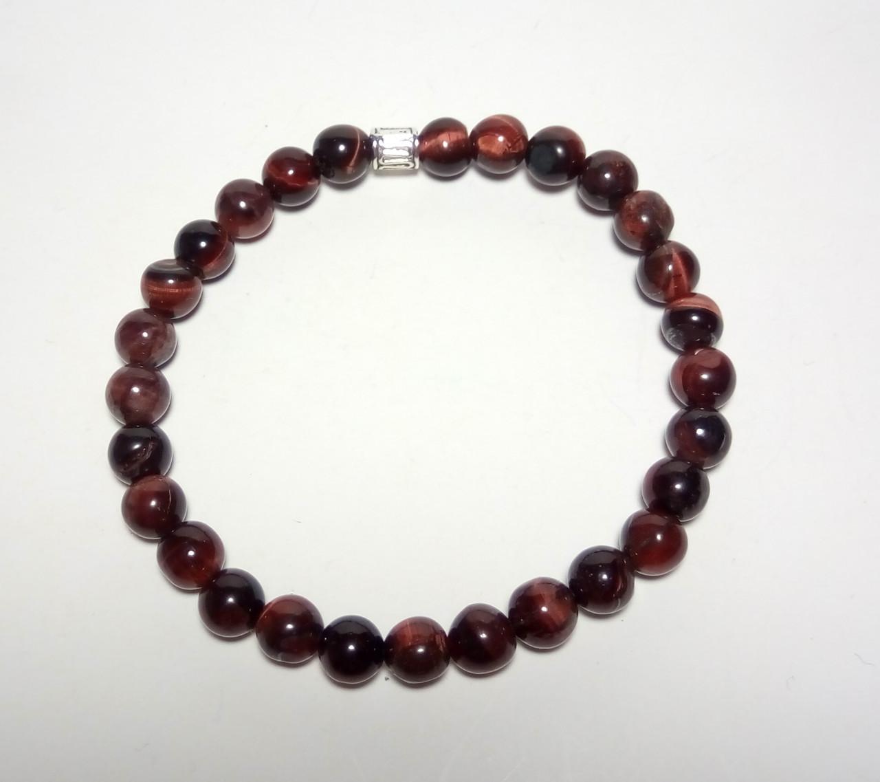 Браслет тонкий Бычий Глаз, натуральный камень, тм Satori \ Sb - 0032