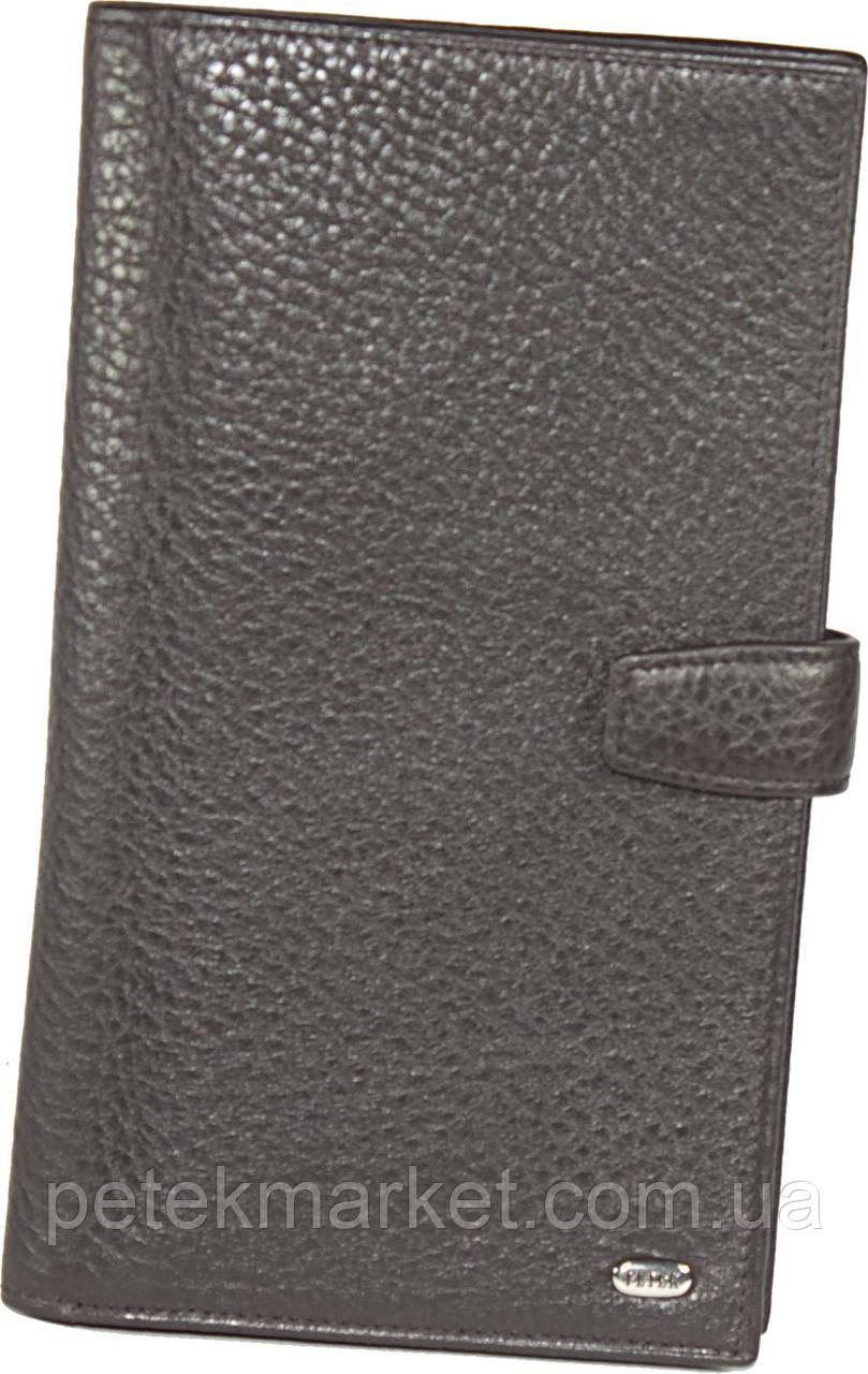 Кожаное мужское портмоне (бумажник путешественника) Petek 557