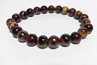 Браслет из натурального камня Тигровый Глаз, Бычий Глаз, цвет коричневый и его оттенки