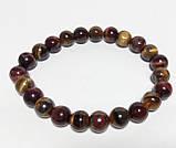 Браслет из натурального камня Тигровый Глаз, Бычий Глаз, тм Satori \ Sb - 0033, фото 2