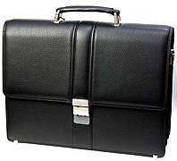Портфель мужской Petek 794, Черный, Естественная фактура, Матовая, Кожа, фото 1