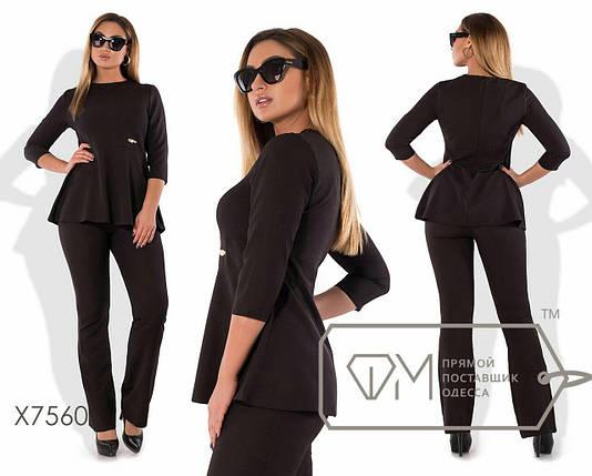 """Удобный женский костюм Блуза+брюки """"Костюмная"""" 42 размер норма, фото 2"""