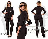 """Удобный женский костюм Блуза+брюки """"Костюмная"""" 42 размер норма"""