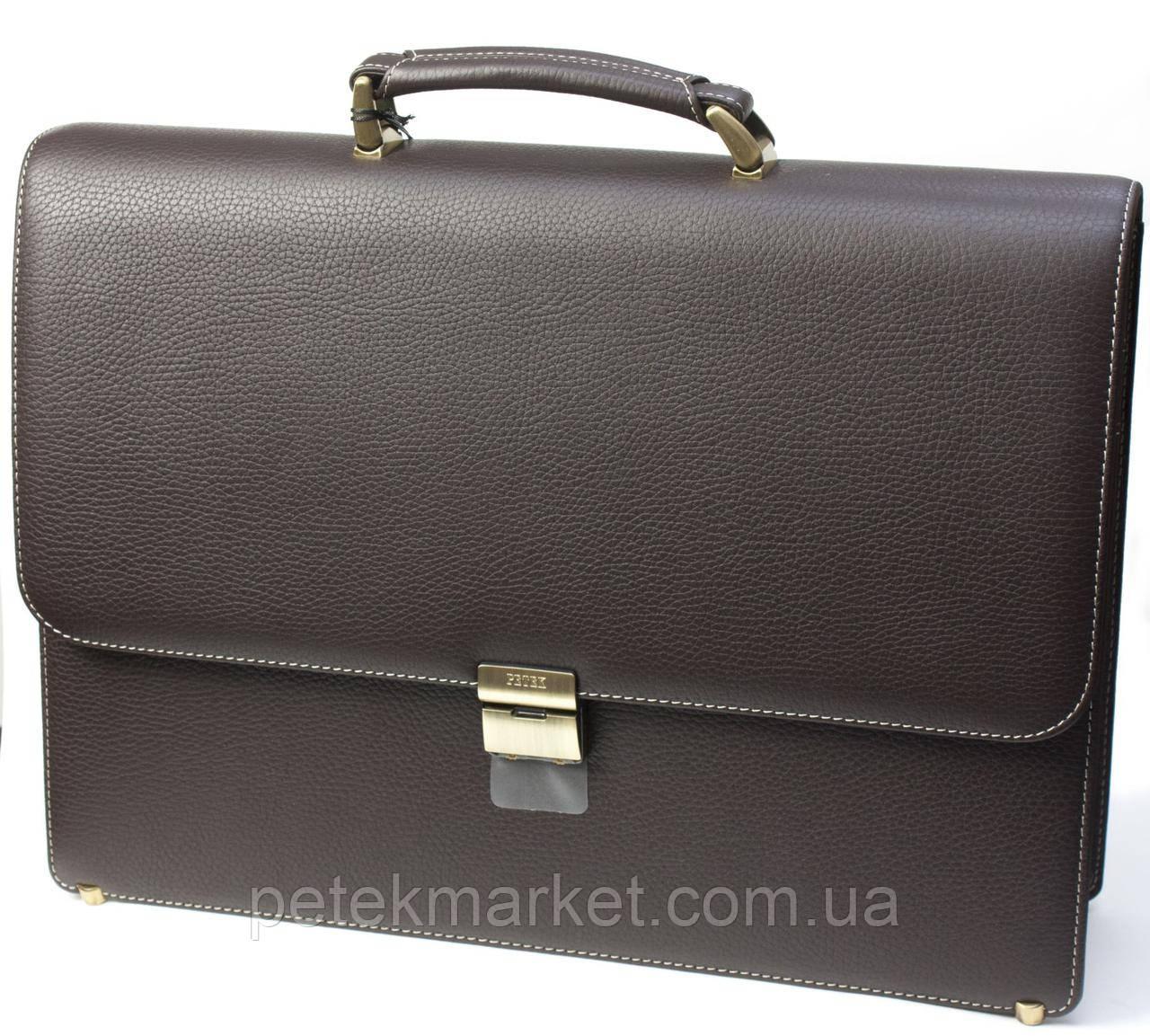 Портфель мужской PETEK 854 Коричневый (854-46BD-KD2)