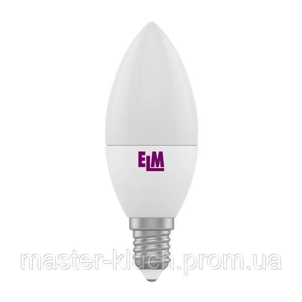 Лампа светодиодная свеча ELM LED PA-10 6W E14 3000K