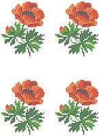 """Схема для вышивки на водорастворимом флизелине """"Декор-цветы"""""""