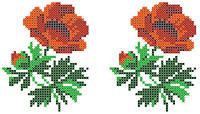 """Схема для вышивки на водорастворимом флизелине """"Цветочки"""""""