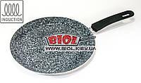 Сковорода блинная 24х2см с антипригарным керамическим покрытием (индукция) Frico FRU-988