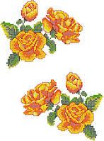 """Схема для вышивки на водорастворимом флизелине """"Розы желтые"""""""