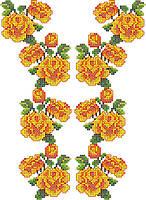 """Схема для вышивки на водорастворимом флизелине """"Розы желтые узор"""""""