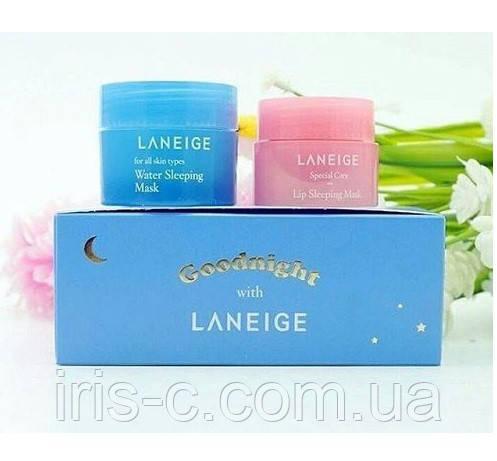 Мини набор ночных уходовых средств LANEIGE Good Night Sleeping Care 10+3мл