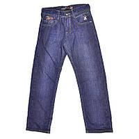 Синие детские джинсы на флисе.