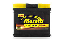 Аккумулятор автомобильный  Moratti 55AH R+ 550A