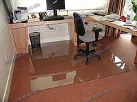 Ковер под кресло для защиты пола прозрачный 125х135см. Толщина 0,6мм