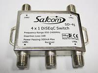 Коммутатор DISEqC 4x1 внутренний SatCom SD-45