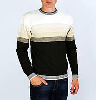 Коричневый с белым свитер мужской, джемпер RAGA