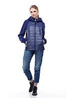 Куртка бомбер кашемир синяя больших размеров и маленьких 42-56, кашемир 100%