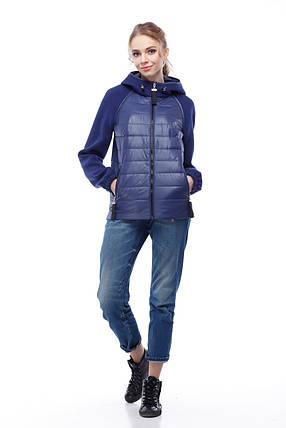Куртка бомбер кашемир синяя больших размеров и маленьких 42-56, кашемир 100%, фото 2