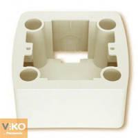 VIKO СARMEN Коробка для наружного монтажа кремовая