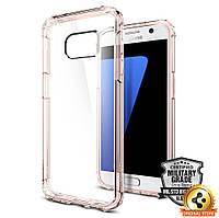 Чехол Spigen для Samsung S7 Crystal Shell, Rose Crystal, фото 1