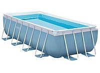 Прямоугольный каркасный бассейн Intex 488х244х107 см (28318)