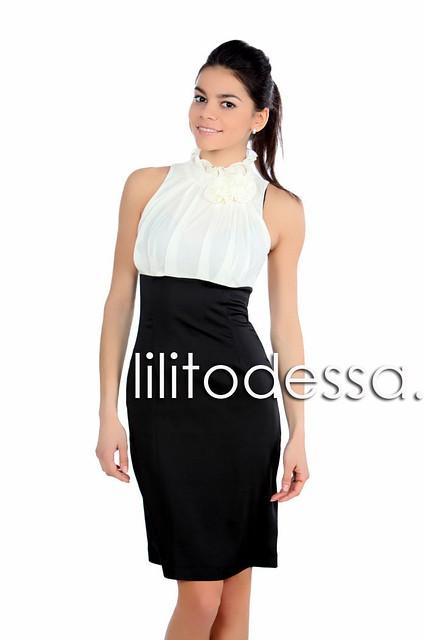 Платье с высокой юбкой