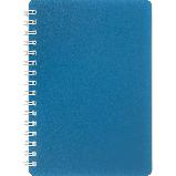 Блокнот А6 80л CLASSIC пружина сбоку, пластик. обл., фото 4