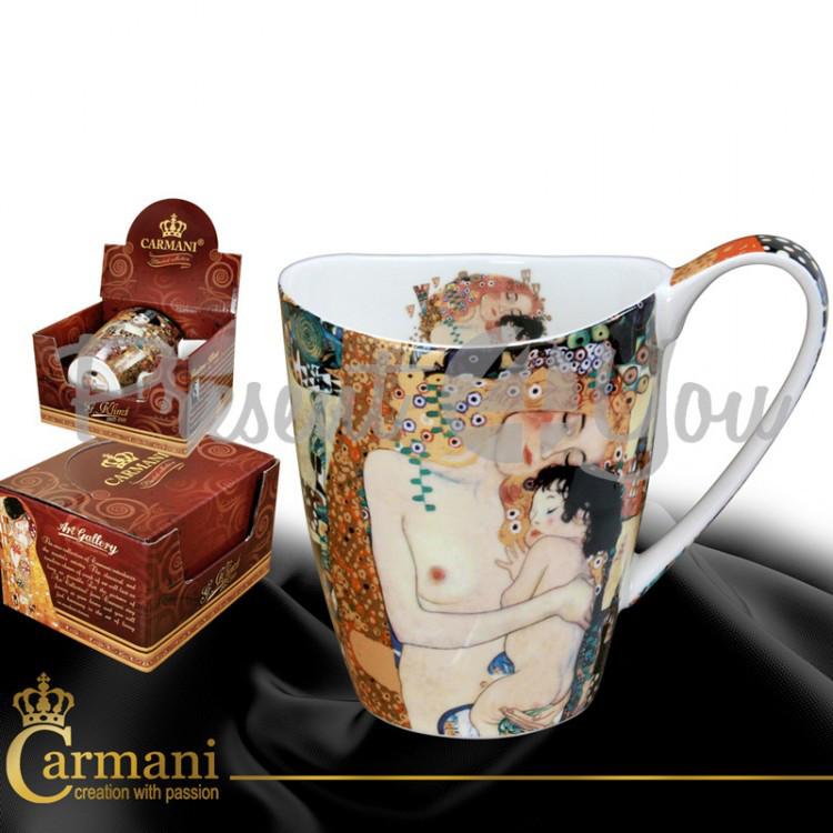 Кружка фарфоровая Г.Климт«Материнство» Carmani, 400 мл (532-0906)