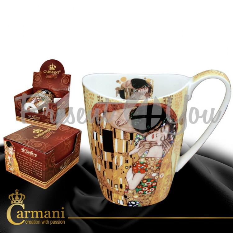 Кружка фарфоровая Г.Климт«Поцелуй» Carmani, 400 мл (532-0901)