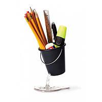 Подставка для канцелярских принадлежностей Desk Bucket Peleg Design (черная), фото 1