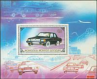 Монголия 1989 - автомобили - блок - MNH XF