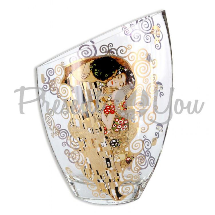 Ваза стеклянная Г. Климт «Поцелуй» Carmani, h-30х21х11 см (841-5216)