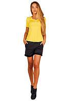 Футболка женская желтого цвета FERRARI SHIELD TRAINING, фото 1