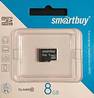 Карта памяти микро SDHC Smart Buy 8 гб класс 10 без адаптера