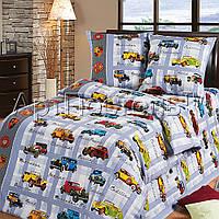 Подростковое полуторное постельное белье с простыней на резинке 90*200*25 Ретро коллекция, бязь ГОСТ