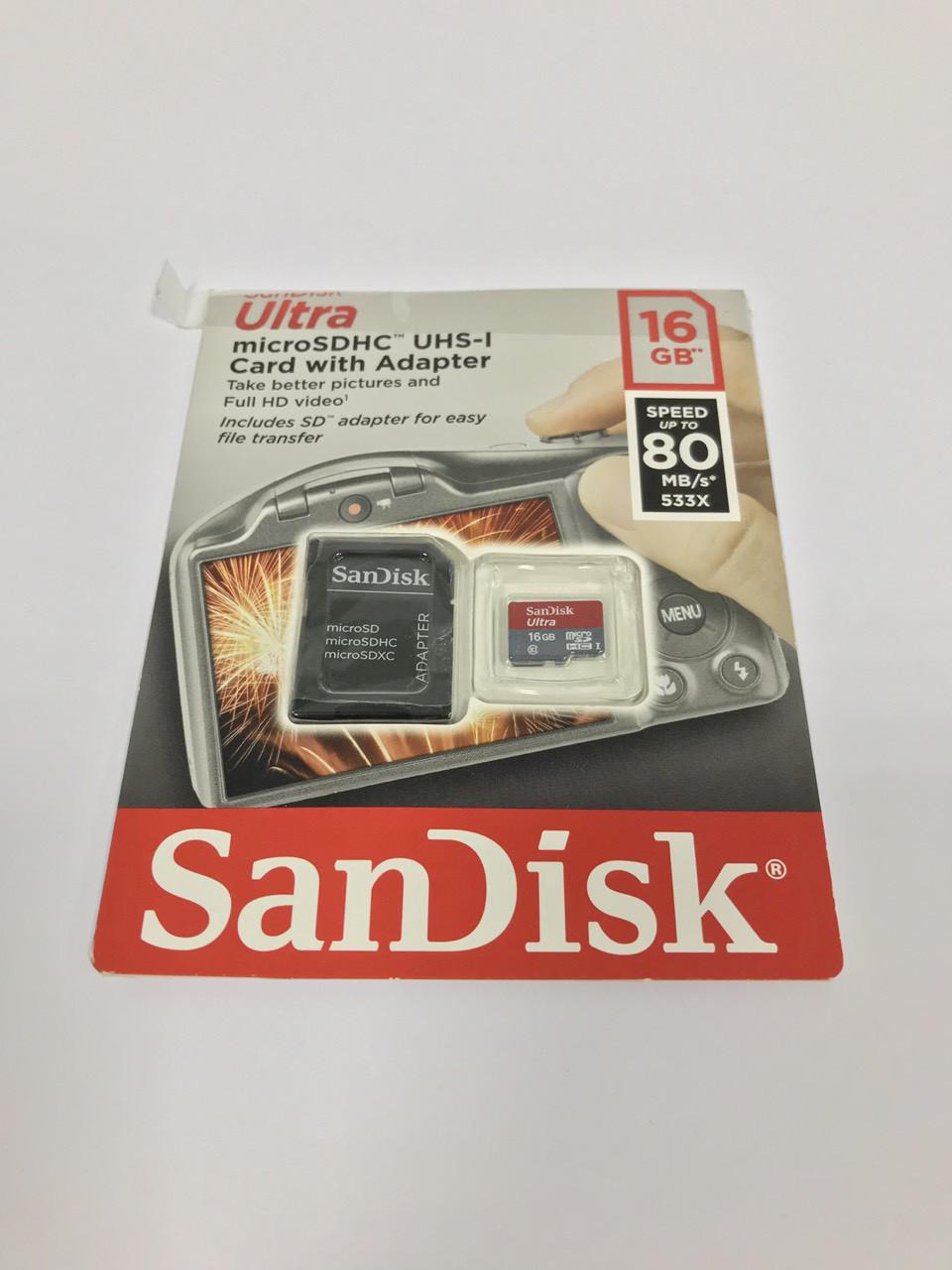 Флешка MicroSD 16 GB