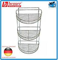 Полка BESSER 0425A 3-ярусная полукруглая 58*29*18см хромированная